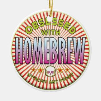 Homebrew Obsessed R Round Ceramic Decoration