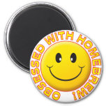 Homebrew, Obsessed Smile 2 Inch Round Magnet