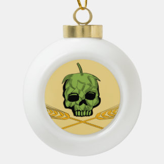 Homebrew Pirate Ceramic Ball Christmas Ornament