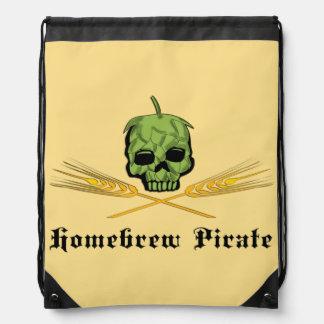 Homebrew Pirate Drawstring Bag