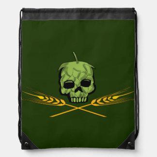 Homebrew Pirate Drawstring Backpacks