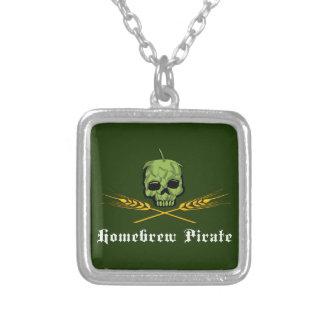Homebrew Pirate Square Pendant Necklace