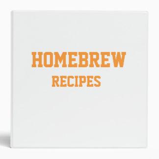 Homebrew Recipe Binder