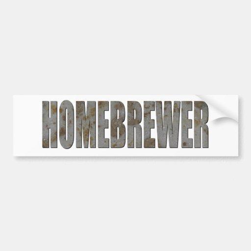 Homebrewer Car Bumper Sticker