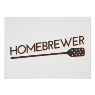 Homebrewer - Mash Paddle Poster