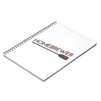 Homebrewer - Mash Paddle Spiral Notebook