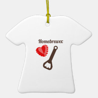 Homebrewer Double-Sided T-Shirt Ceramic Christmas Ornament
