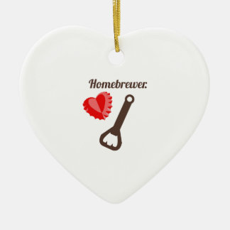Homebrewer Double-Sided Heart Ceramic Christmas Ornament