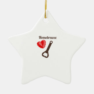 Homebrewer Double-Sided Star Ceramic Christmas Ornament
