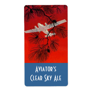Homebrewing Beer Bottle Label Aviators Airplane