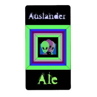 Homebrewing Beer Homebrew Labels Alien Auslander
