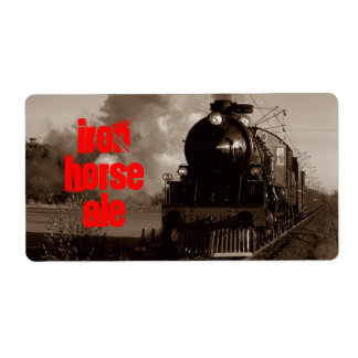 Homebrewing Beer Label Iron Horse Steam Ale Train