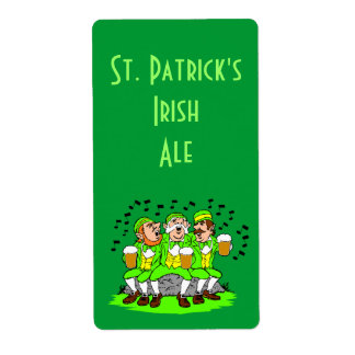 Homebrewing Beer Label St Patricks Day Irish Party