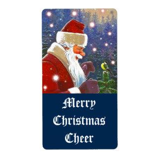 Homebrewing Beer Wine Holiday Santa Cheer Labels
