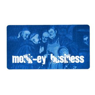 Homebrewing Blue Beer Labels Monks Monk-ey Brew