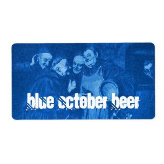 Homebrewing Blue October Beer Labels HomeBrew bier