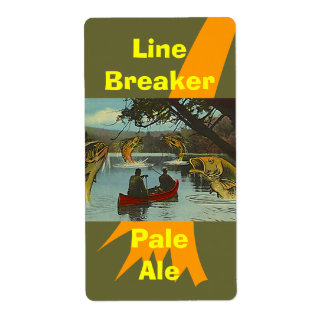 Homebrewing Brewing Beer Bottle Labels Fishing Fun