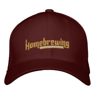 Homebrewing cupo el gorra gorros bordados