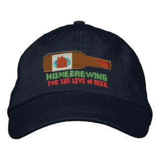 Homebrewing Embroidered Hat
