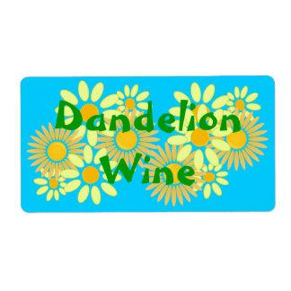 Homebrewing Homemade Dandelion Wine Labels Bottles