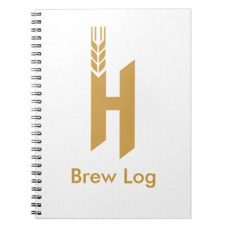 Homebrewing Log Book Note Book