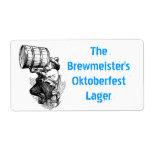 Homebrewing suministra etiquetas del brew casero d etiquetas de envío