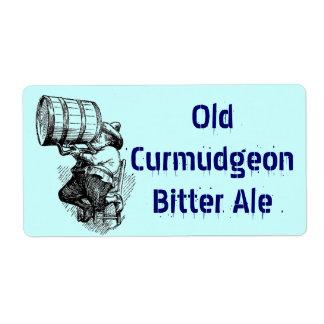 Homebrewing Supplies Beer Brew Curmudgeon Bitters Label