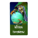 Homebrewing Supplies Beer Brewing Witch Brew Label Shipping Label