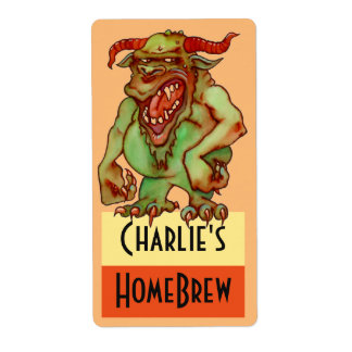 Homebrewing Supplies Beer Fun Party Monster Label