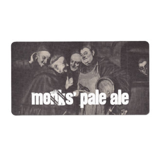 Homebrewing Supplies Beer Label Monks' Pale Ale Shipping Label