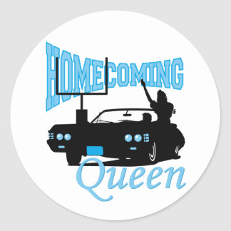 Homecoming Queen Classic Round Sticker