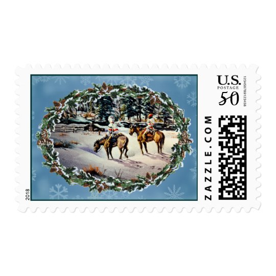 HOMECOMING & WREATH by SHARON SHARPE Postage