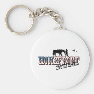 HomeFront Equestrians Basic Round Button Keychain