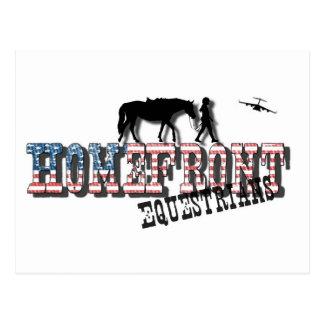 HomeFront Equestrians Logo Postcard