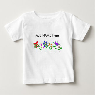 Homegrown Flowers, Add NAME Here Infant T-shirt