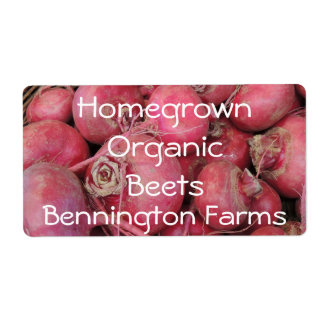 Homegrown Organic Beets Custom Label Shipping Label