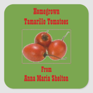 Homegrown Tamarillo Tomatoes Canning Label Custom