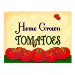 Homegrown Tomato Custom Recipe Card Post Card