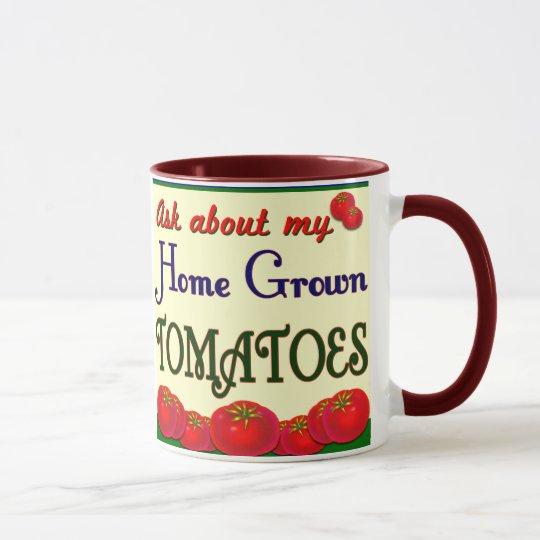 Homegrown Tomato Garden Slogan Mug