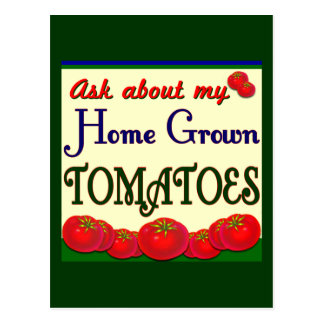 Homegrown Tomato Garden Slogan Post Cards