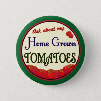 Homegrown Tomato Retro Gardener Slogan Pinback Pinback Button