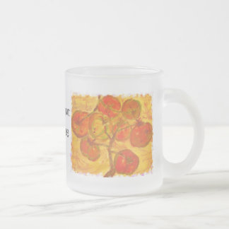 homegrown tomatoes art frosted glass coffee mug