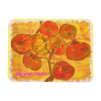 homegrown tomatoes art rectangular photo magnet