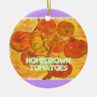 homegrown tomatoes christmas ornaments