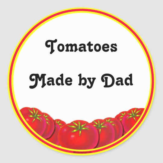 Homegrown Tomatoes Custom Canning Labels