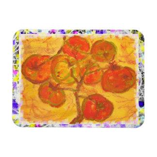 homegrown tomatoes drip painting rectangular photo magnet