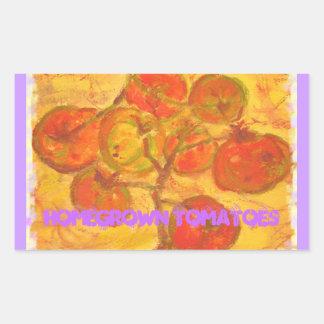 homegrown tomatoes rectangular sticker