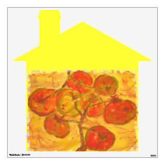 homegrown tomatoes wall decal