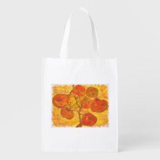 homegrown tomatoes reusable grocery bag