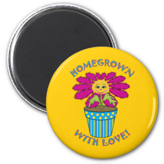 Homegrown with Love 2 Inch Round Magnet